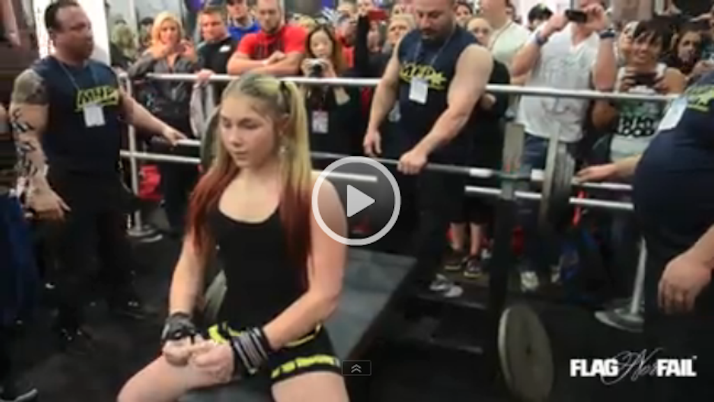 13 Years Old Girl Benches 240 Pounds !
