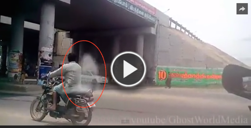 OMG!! Real Ghost Spirit Caught Back Seat Of The Bike Video